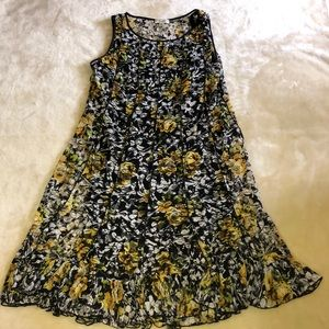 Dressbarn Sleeveless Floral Dress